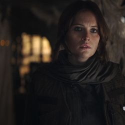 Rogue One: A Star Wars Story  Jyn Erso (Felicity Jones)  Ph: Film Frame ILM/Lucasfilm  ©2016 Lucasfilm Ltd. All Rights Reserved.