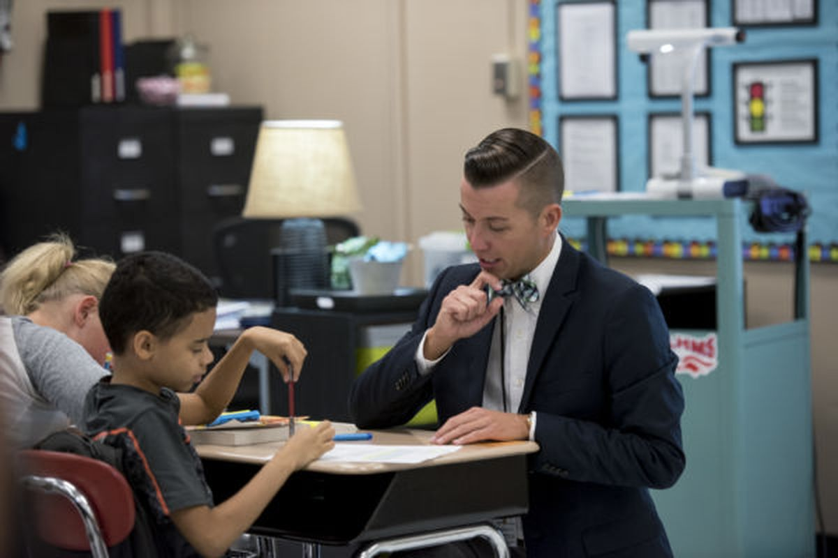 """Derek Voiles, Tennessee's 2016-17 Teacher of the Year was featured in a podcast series sharing his """"education epiphany"""" — the personal moment that crystallized the importance of being a teacher. You can listen to Derek's episode at TeacherPodcasts.org."""