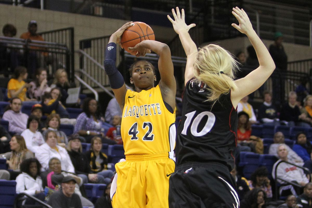 Marquette's lone senior, Sarina Simmons, gets at least one more chance to play in the Al.
