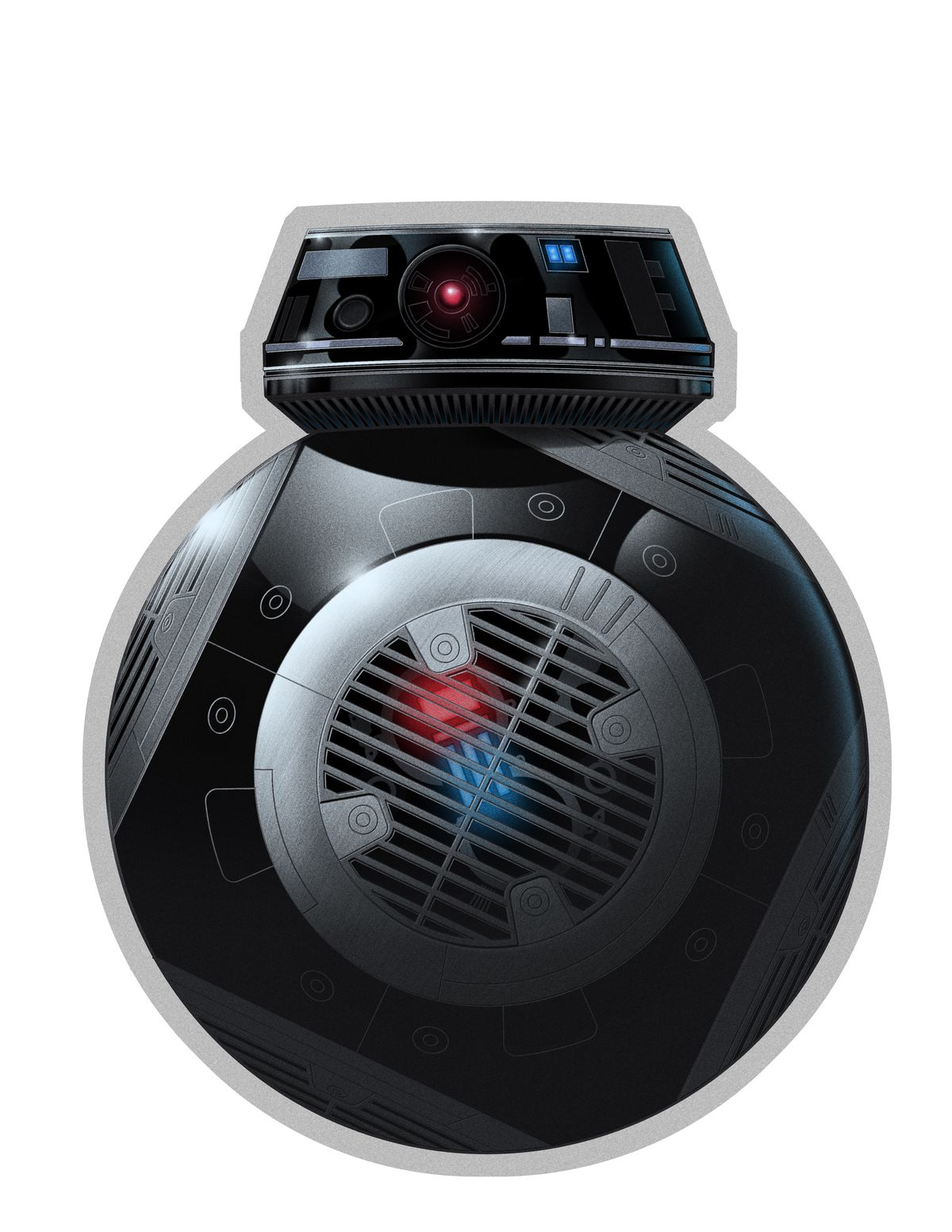 Front of the BB-9E menu