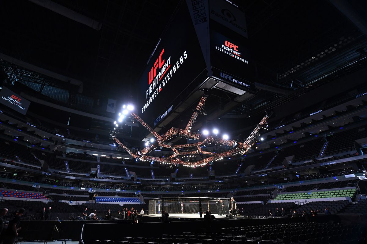 Tweet of the Day: UFC commentator Brendan Fitzgerald is still under a table