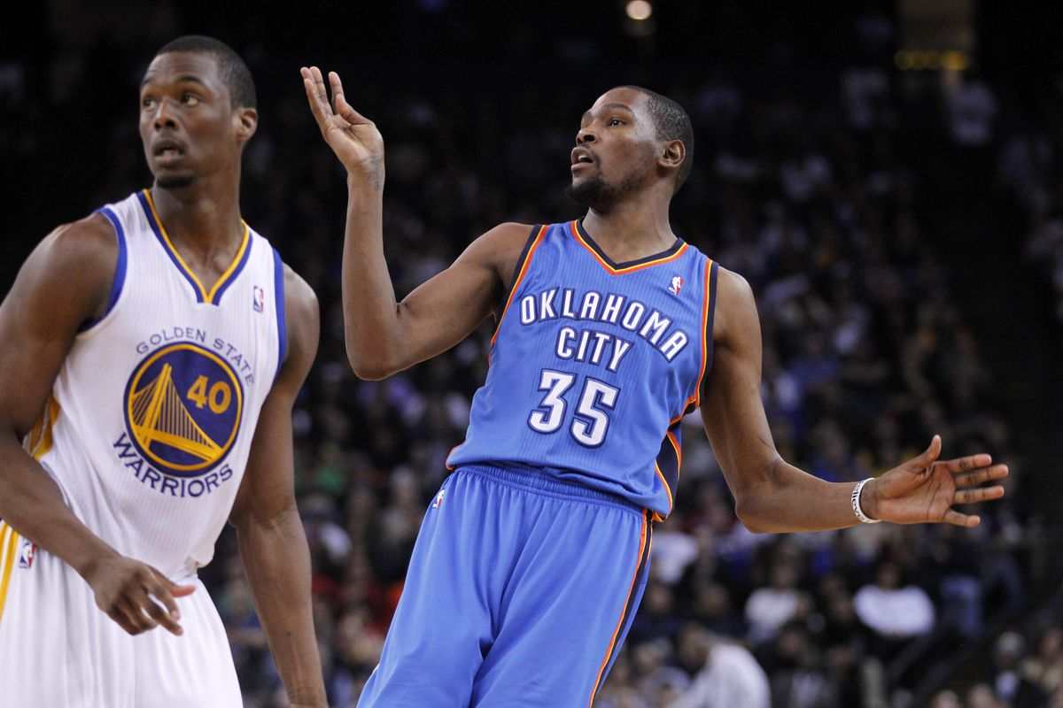 KD is wondering where the ball went.