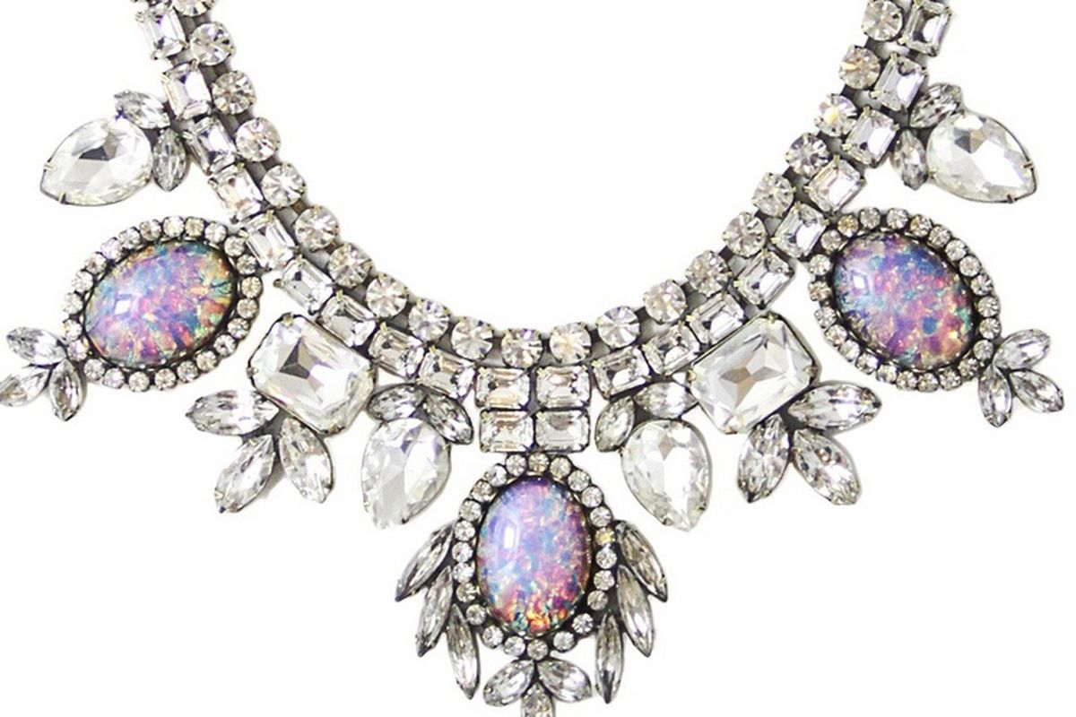 """A Loren Hope <a href=""""http://www.charmandchain.com/jewelry/necklaces/lyra-necklace-in-crystal"""">necklace</a> from Charm &amp; Chain"""