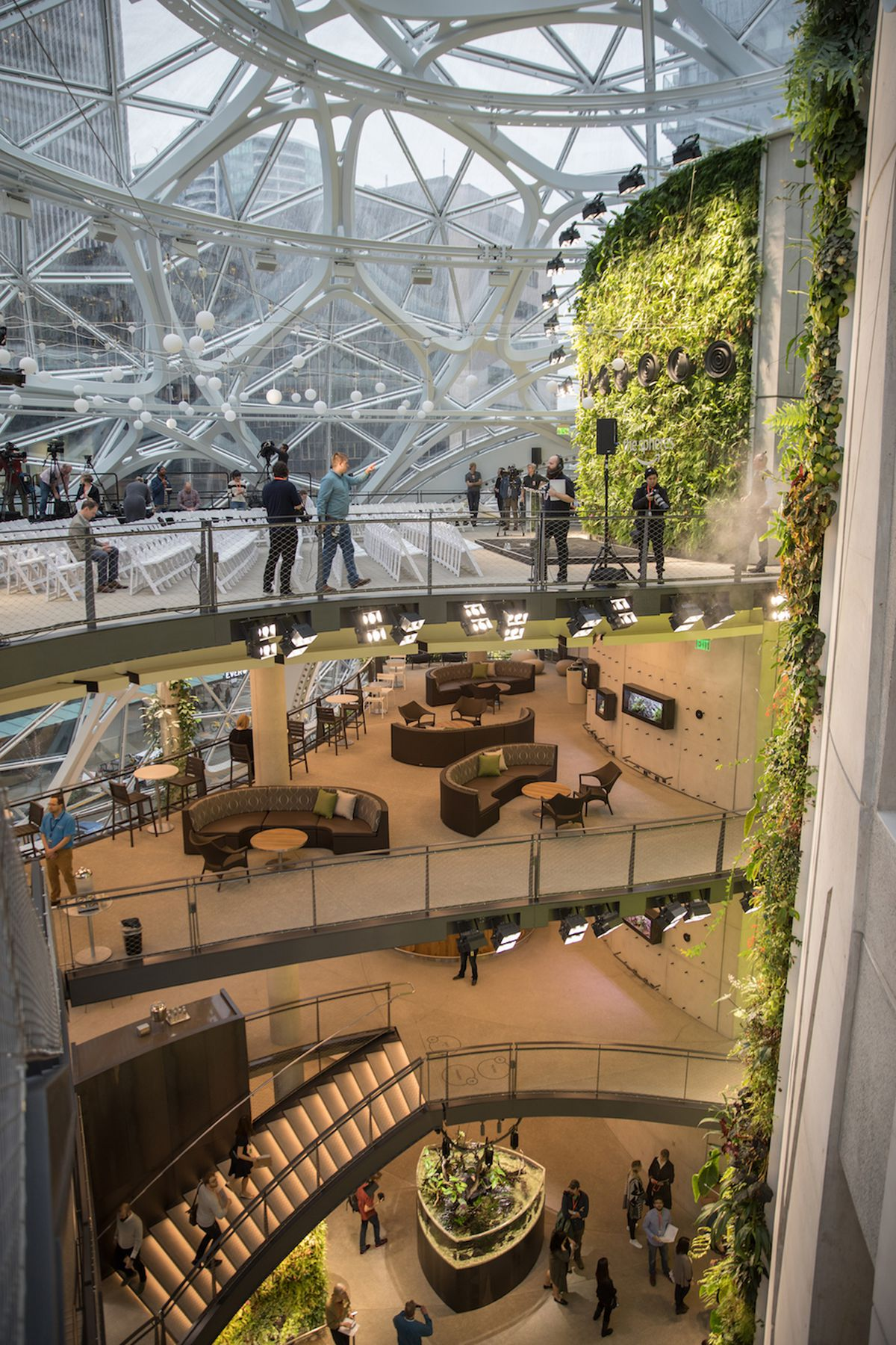 Inside the Amazon Spheres: The plants, the architecture, and a