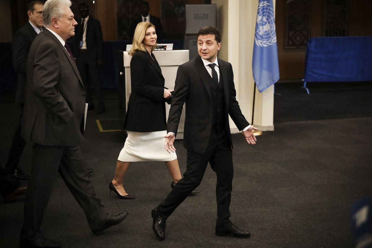 Ukraine's President Volodymyr Zelensky at the United Nations.