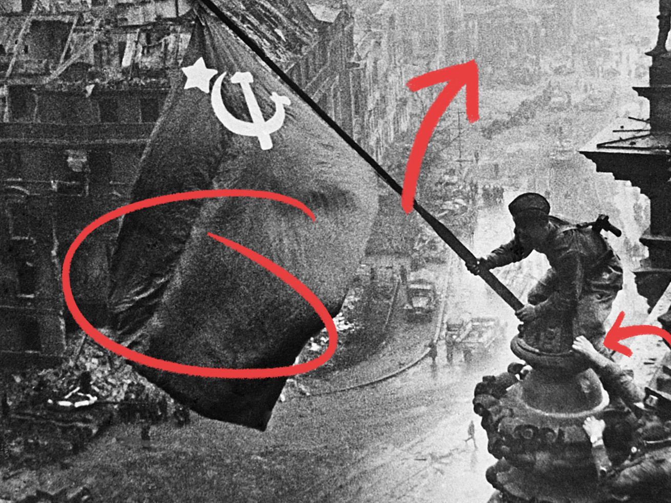 Why The Soviets Doctored This Iconic Photo Pnu