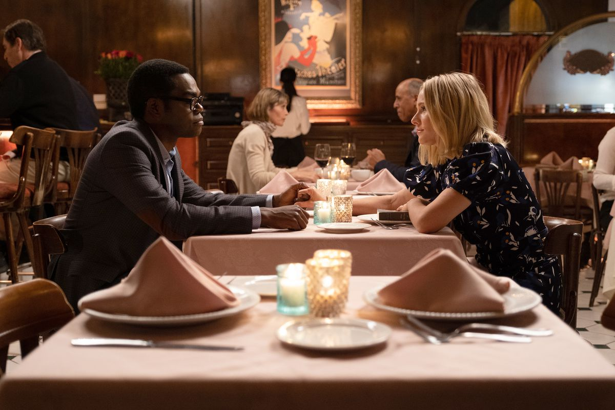 Eleanor and Chidi have a sweet date.