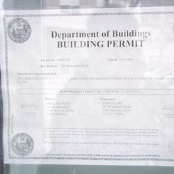 The Building Permit in the Window