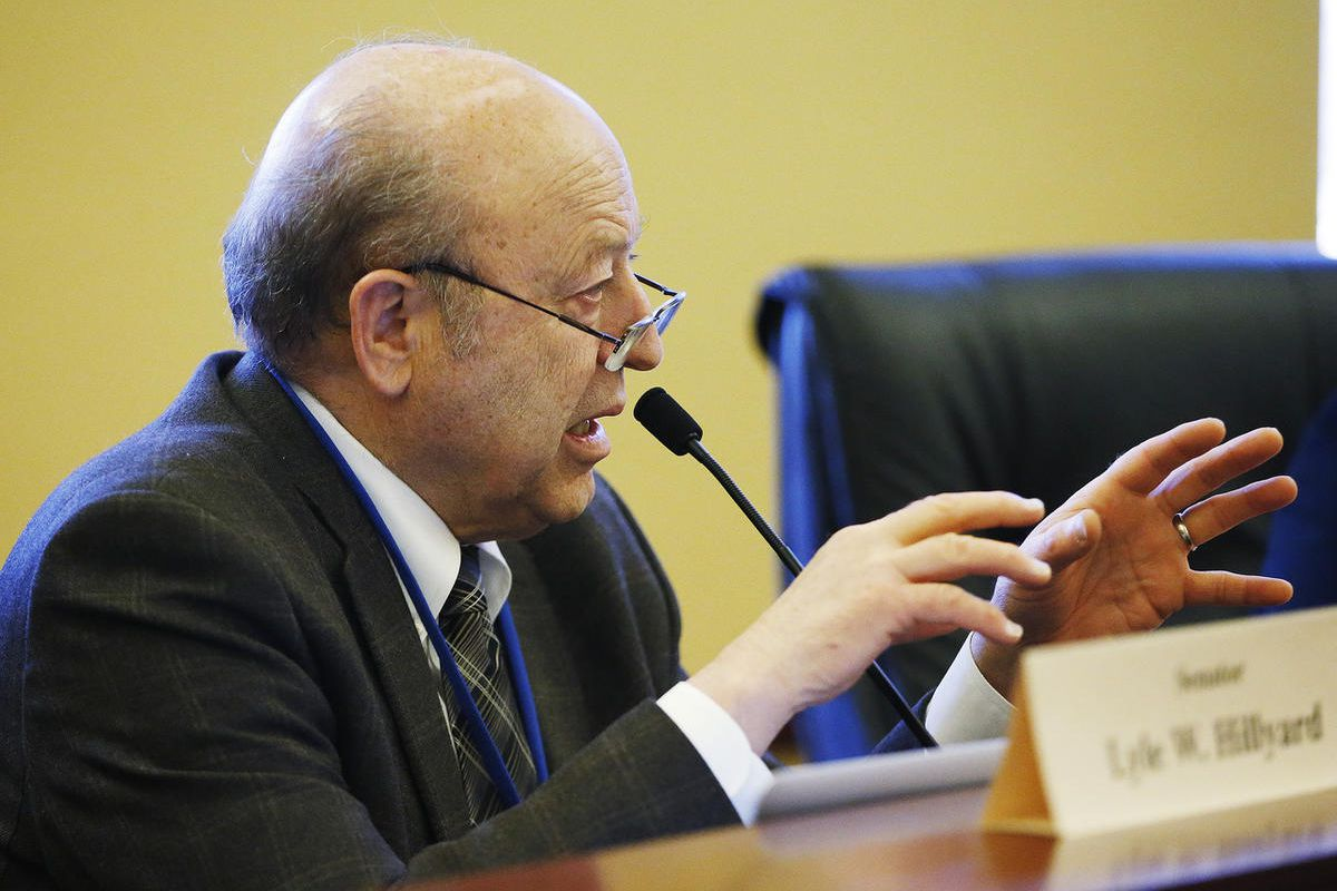 """FILE""""""""Sen. Lyle Hillyard, R-Logan, speaks during a committee meeting in Salt Lake City on Thursday, March 2, 2017. Legislators on Tuesday passed a bill modifying post-conviction DNA testing procedures to help wrongfully convicted individuals prove t"""