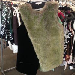 Asymmetrical fur vest, $347