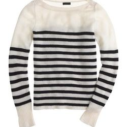 """<a href=""""http://www.jcrew.com/womens_category/sweaters/jcrewcashmere/PRDOVR~02558/99103078706/ENE~1+2+3+22+4294967294+20~~P_new_to_sale 1  P_priority 0~21+17+4294966948~90~~~~~~~/02558.jsp"""">Collection Cashmere Sailor Sweater</a>, $96 (was $278)"""