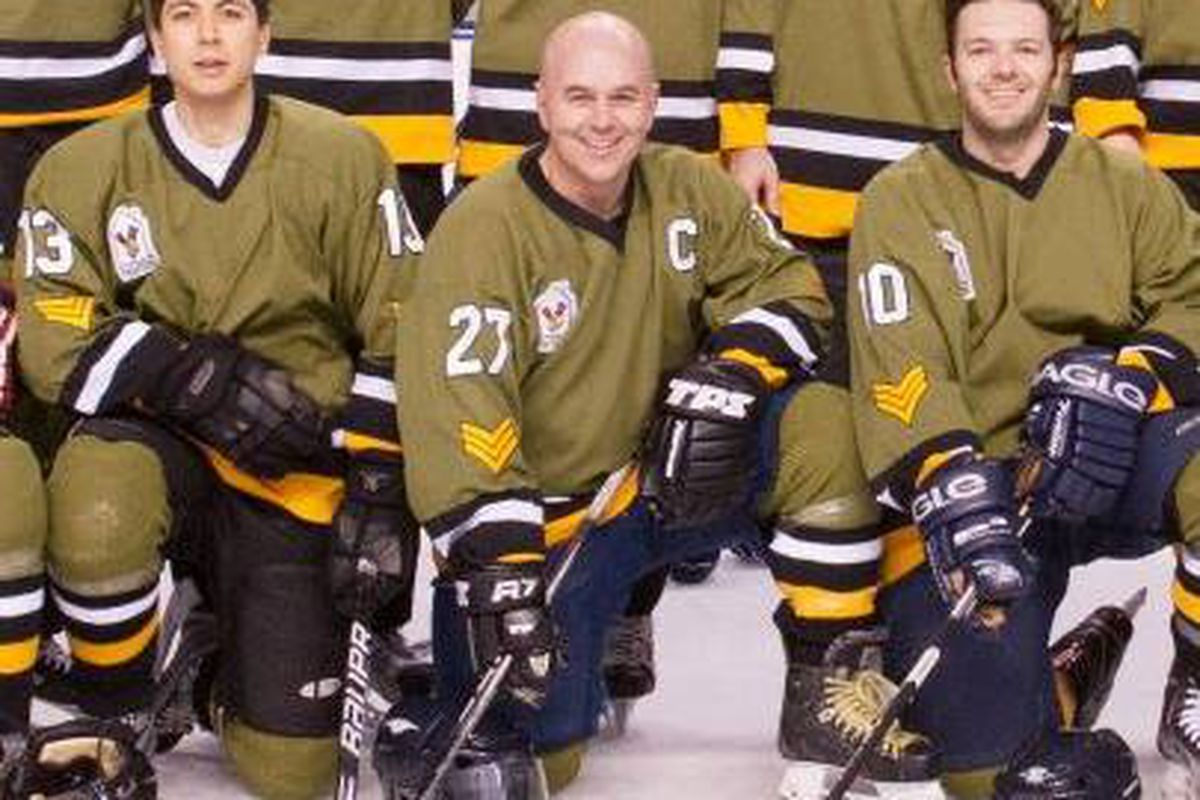 Who's the handsome devil in the #27 sweater? John Barr. That's who.