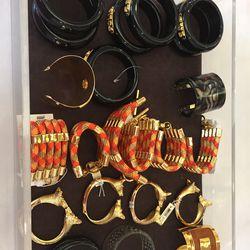 Bracelets and cuffs, $45