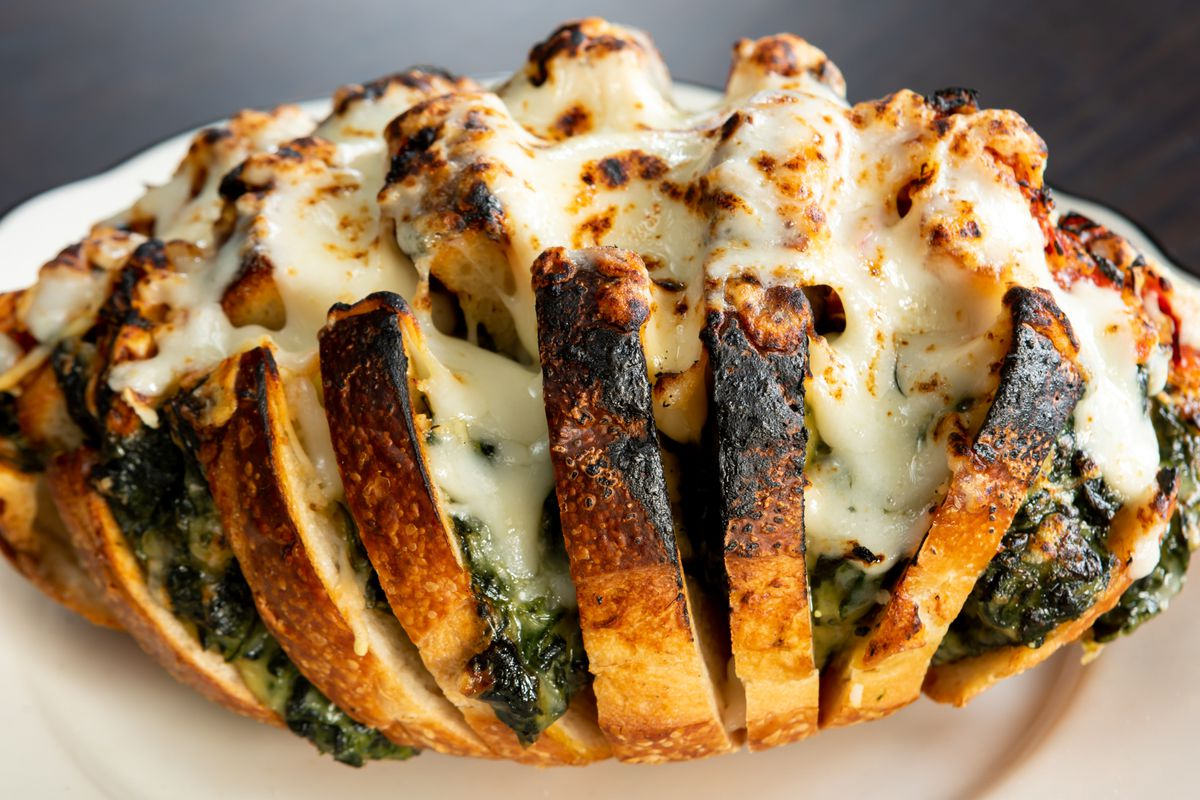 Spinach hasselback from Mr. Digby's