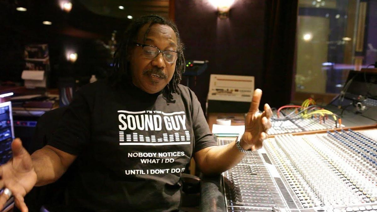 Sound engineer Danny Leake.