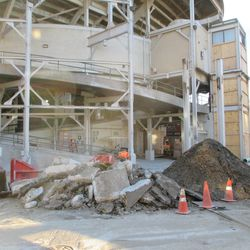 This is the area behind center field that had been cleared of debris during my last visits
