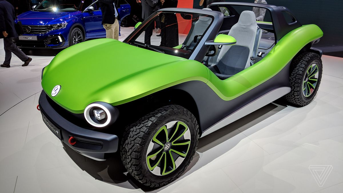 Vw Id Buggy Concept At Geneva Motor Show 2019 Technicolor Dune Raider The Verge
