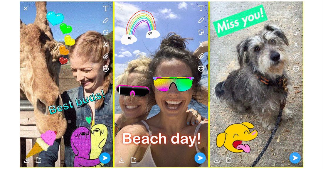 Snapchat Now Has Giphy Integration And Will Introduce A Tabs