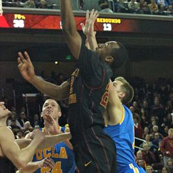Byron Wesley goes up with the left hand.