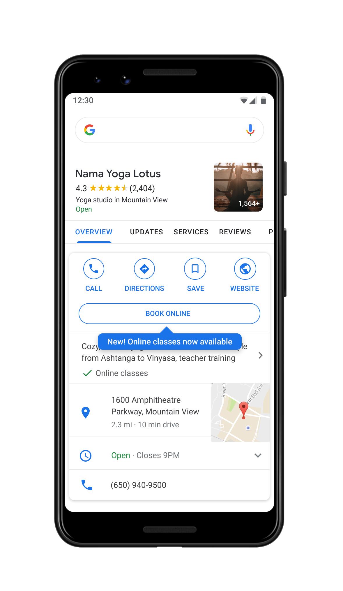 google isletmeler özellik