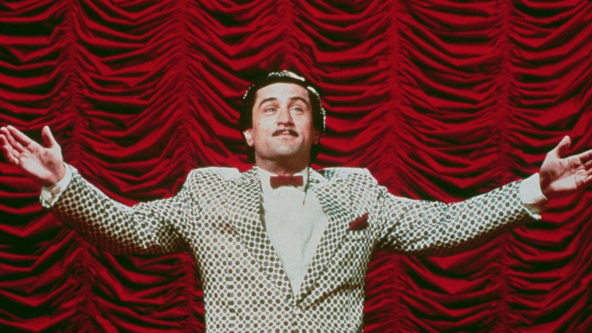 Robert De Niro as Rupert Pupkin in The King of Comedy.