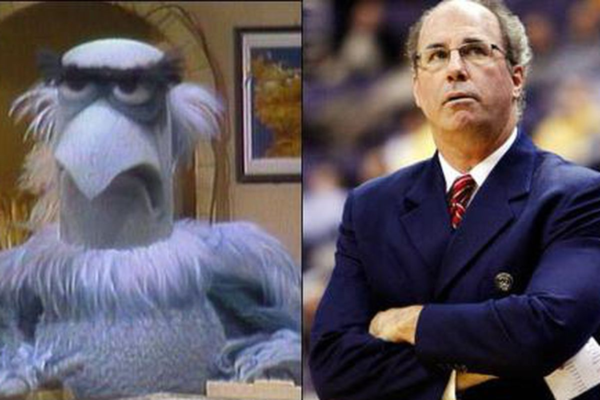 Kevin O'Neil was 19-15 in one year at Arizona, and 72-48 in five years coaching the muppet rec league team.