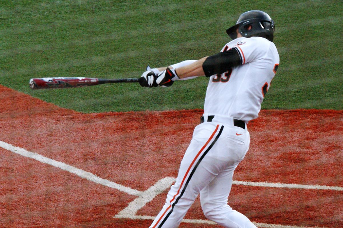 Versatile slugger Ryan Barnes will be one of nine seniors honored today by Oregon St.