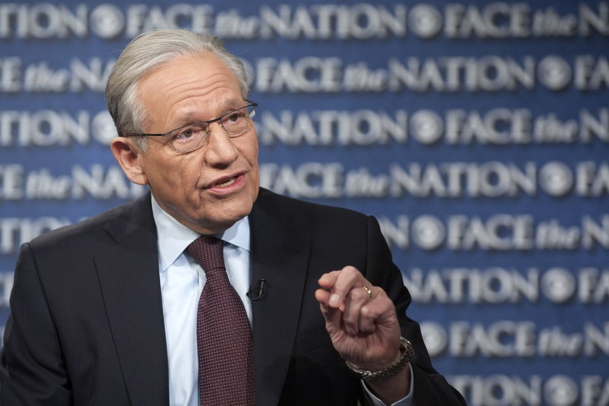 """In this photograph provided by CBS News, Bob Woodward is interviewed on CBS's """"Face the Nation"""" in Washington on March 3, 2013."""