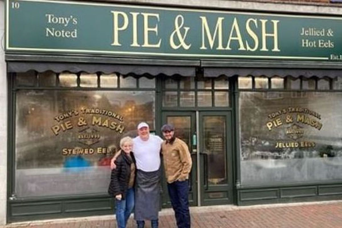 David Beckham at Tony's Pie and Mash shop
