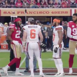 October 2019: Another weird side storyline after the game came when 49ers CB Richard Sherman heavily criticized QB Baker Mayfield for not shaking his hand before the game. The next day, a lot of video footage surfaced that clearly showed Mayfield shaking Sherman and everyone else's hand like normal, so who knows why Sherman felt the need to fabricate something.