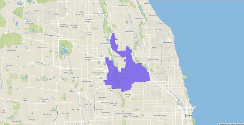 Illinois Senate 10th District map, 2020 election