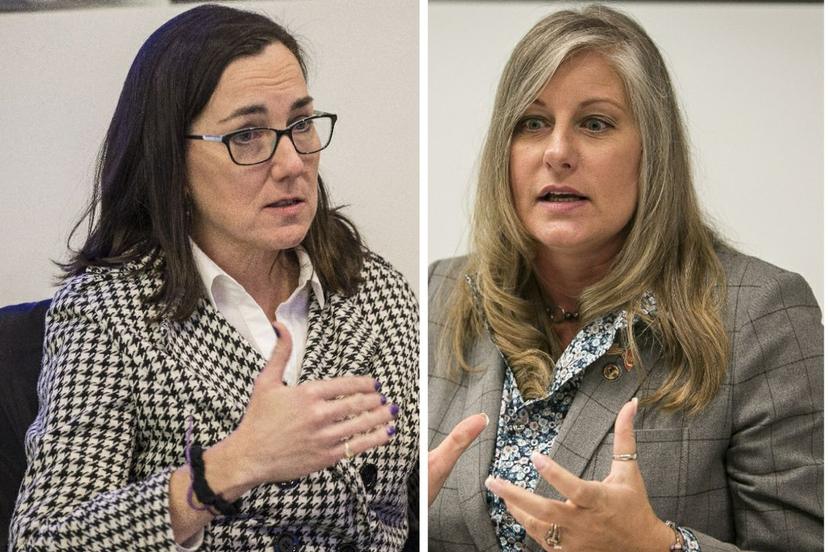 State Rep. Kelly Cassidy, left; State Rep. Stephanie A. Kifowit, right.