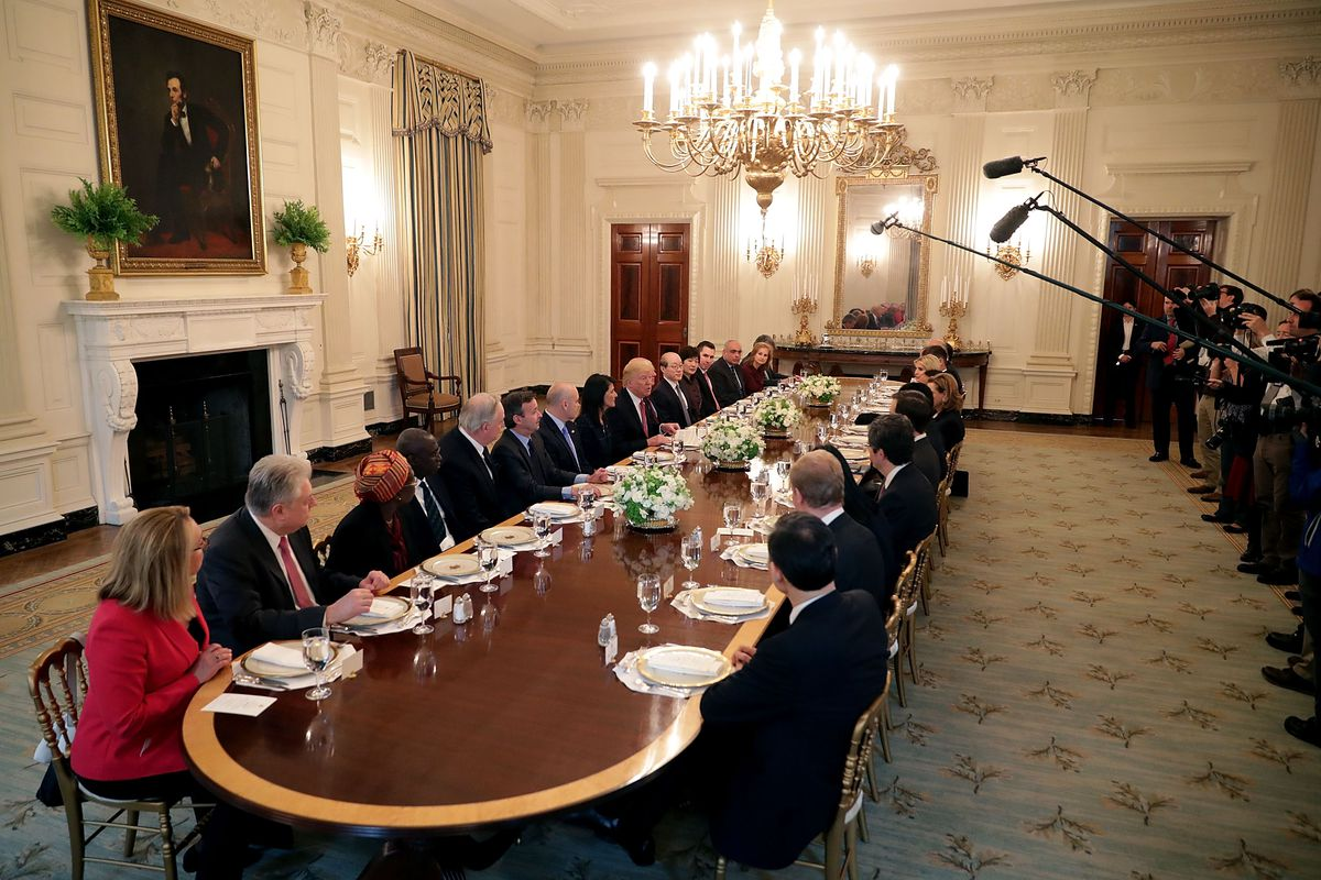 President Trump Lunches With UN Security Council Ambassadors At White House