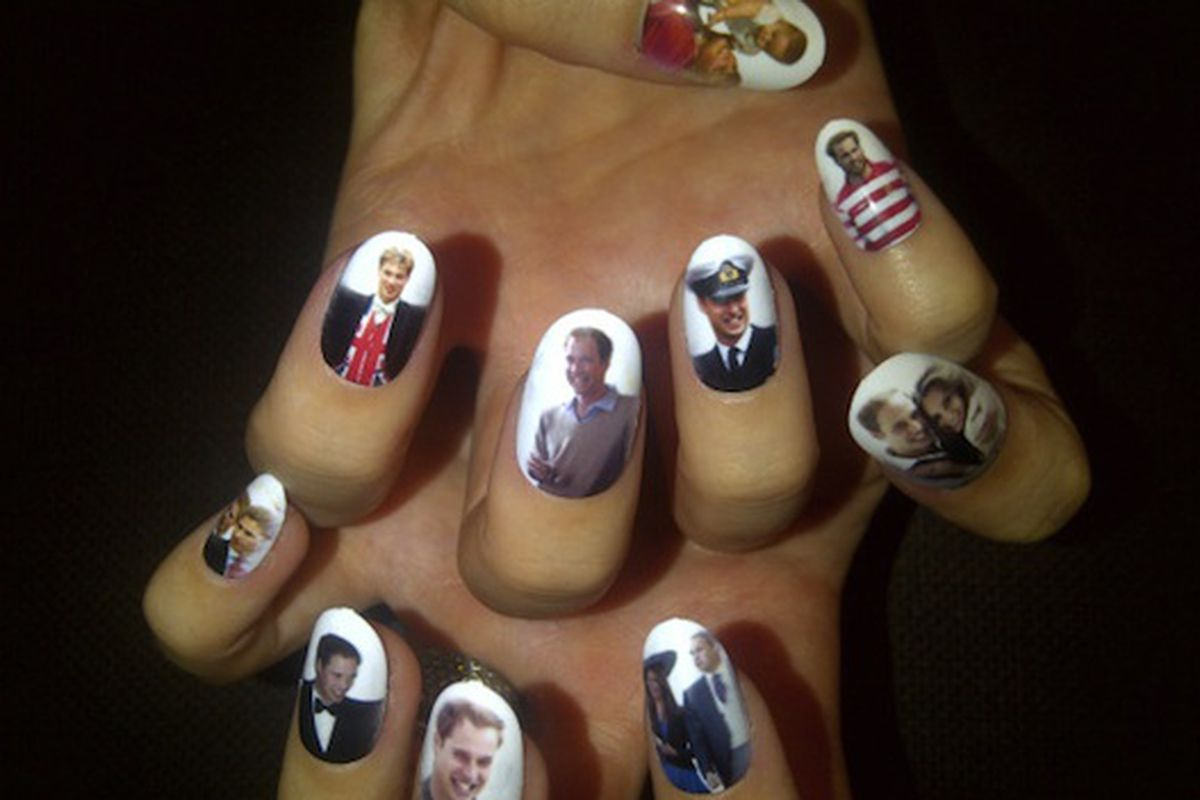 Katy Perry Gets Prince William And Kate Middleton Custom Nail Art