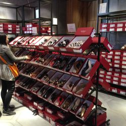 The shoe section upstairs.