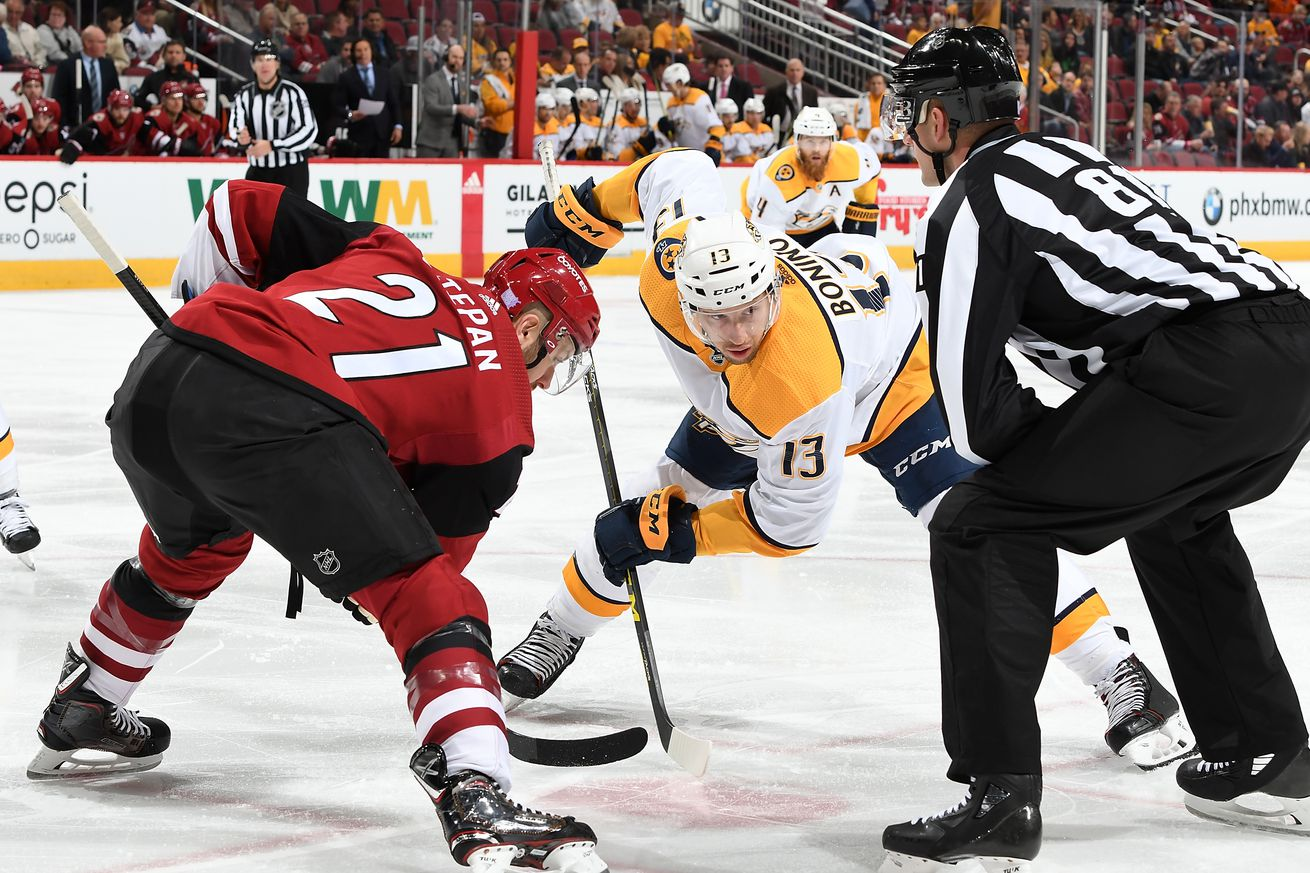 Nashville Predators v Arizona Coyotes