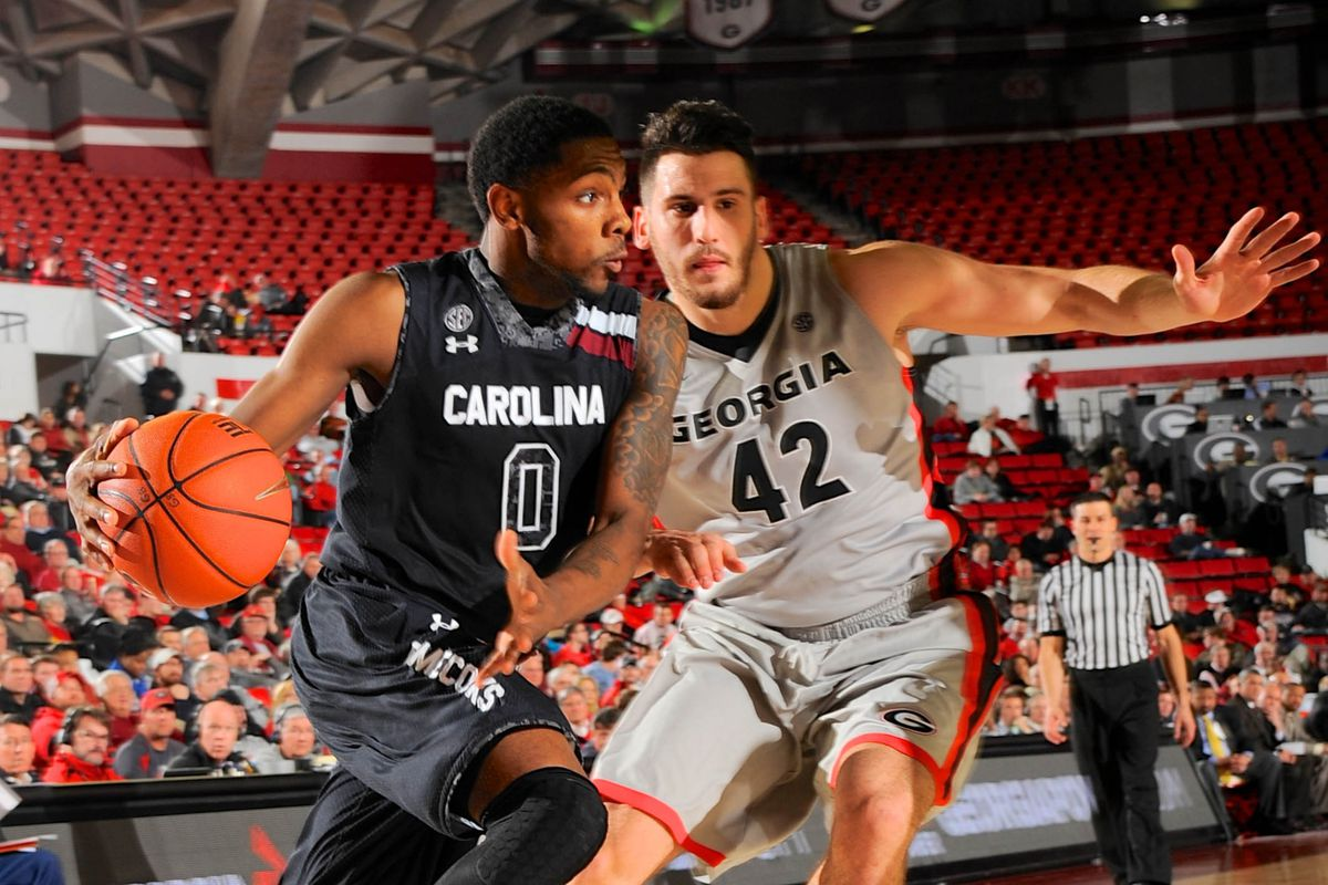 Sindarius Thornwell scored 26 points, but it wasn't nearly enough for Carolina to overcome Georgia.