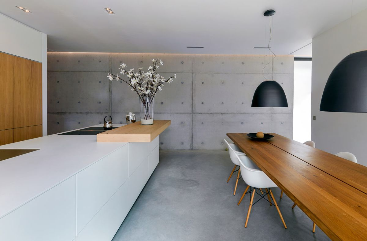 Concrete Walls For Homes : Concrete house in the netherlands hides glass walls and nature