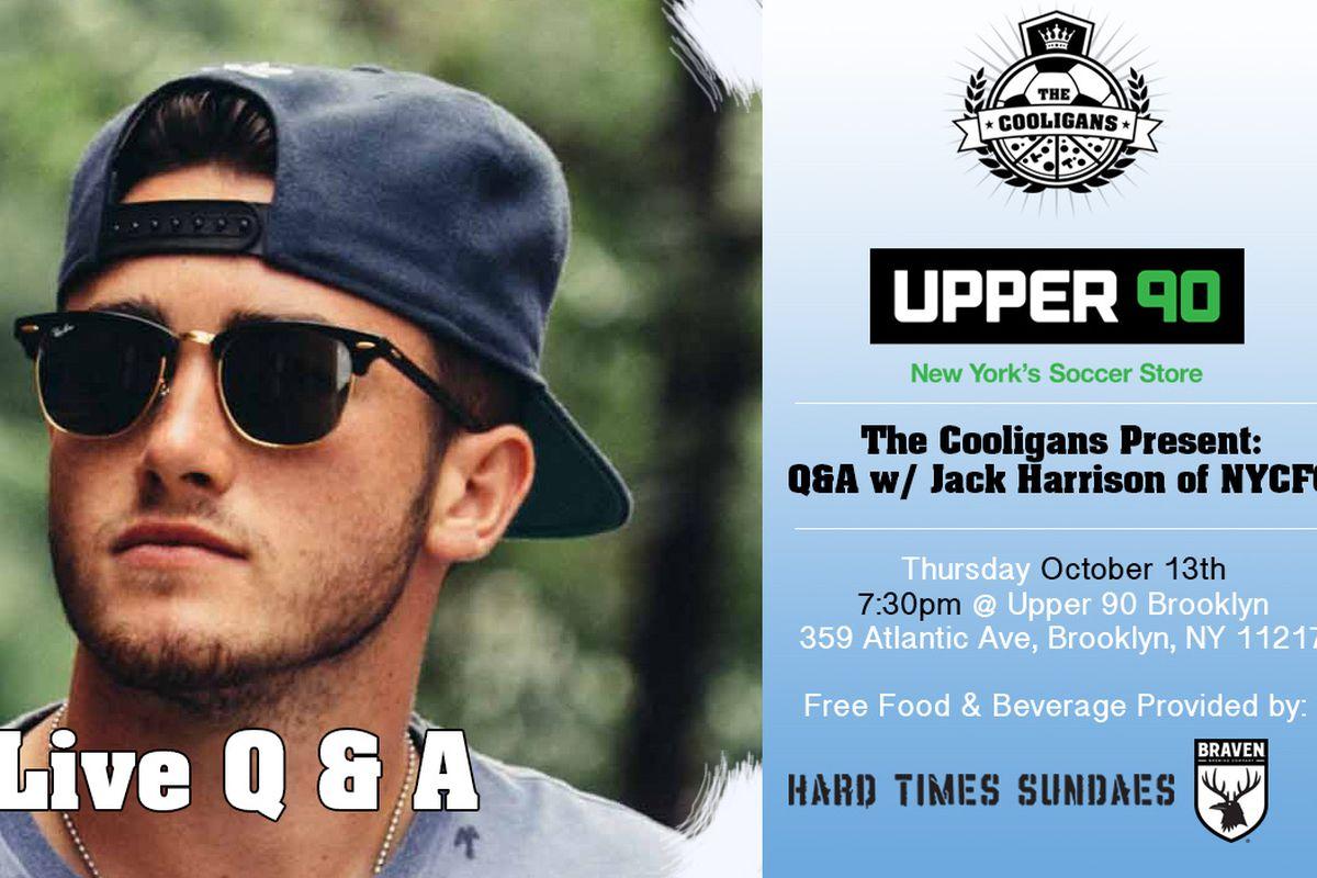 Jack Harrison Hosted By The Cooligans at Upper 90 BK on 10/13