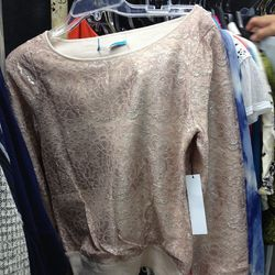 Sample lace sweater, $49