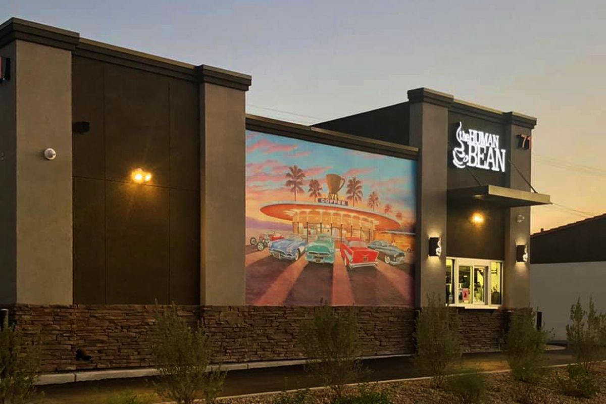 The exterior of The Human Bean's latest expansion, now open in Henderson.