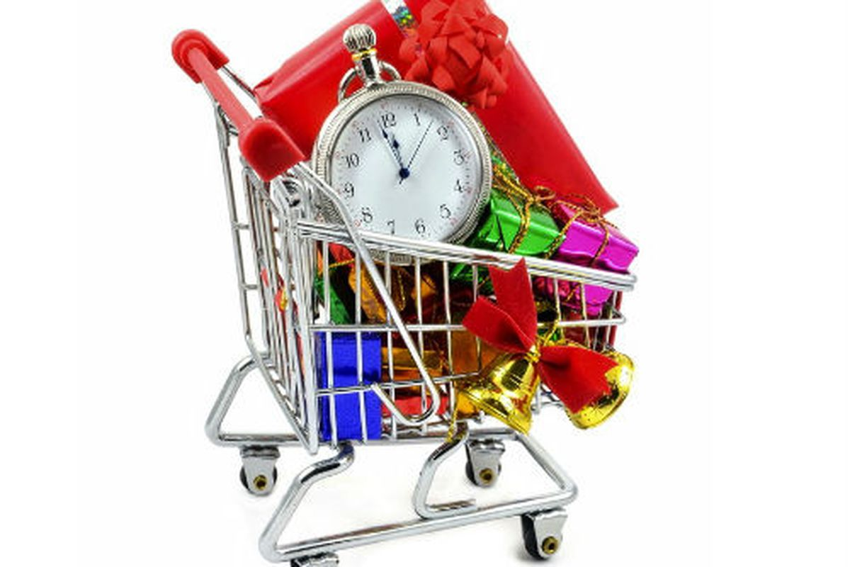 """Image via <a href=""""http://www.shutterstock.com/pic-89158312/stock-photo-last-minute-christmas-shopping-in-a-trolley.html?src=csl_recent_image-1"""">gcpics</a>/Shutterstock"""