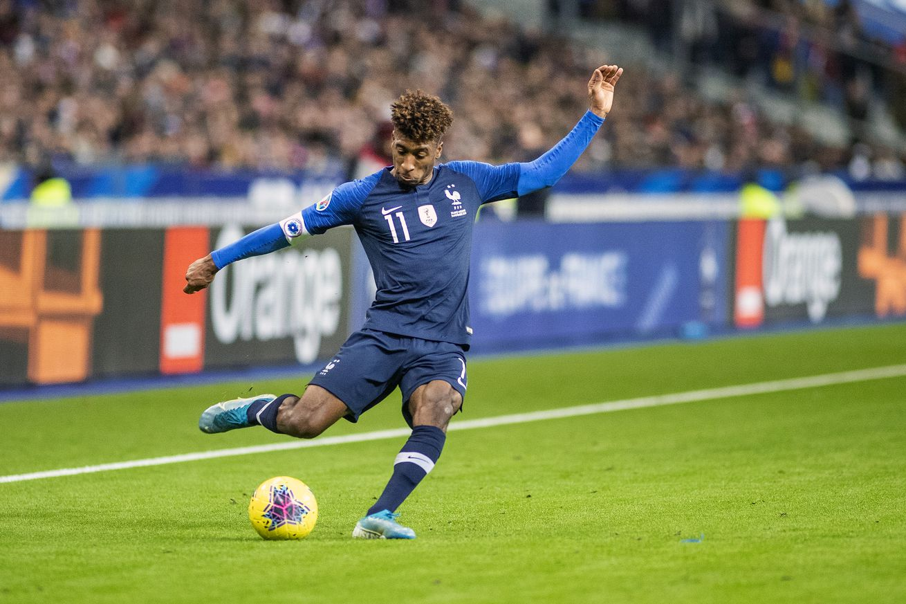 Kingsley Coman back on the pitch after injury scare