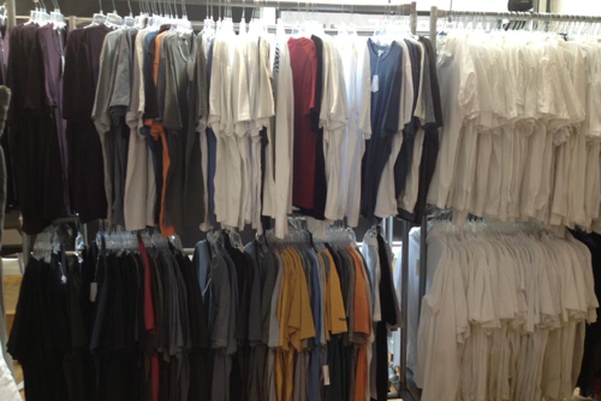 Men's tees for days at the James Perse sale this afternoon