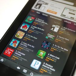 """<a href=""""http://www.theverge.com/2011/11/14/2560084/kindle-fire-review"""">Amazon Kindle Fire</a>"""