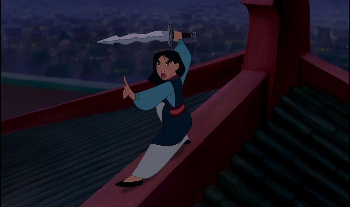 mulan wielding a sword