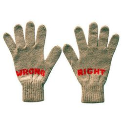 """Give your mom (who is something less than a perfectionist) <b>Donna Wilson</b> Right Wrong Gloves, <a href=""""http://www.drygoodsny.com/collections/accessories/products/rightwronggloves"""">$60</a> at <b>Dry Goods</b>"""