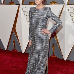 Best Actress nominee Charlotte Rampling wears head-to-toe silver. Photo: Lester Cohen/Getty Images