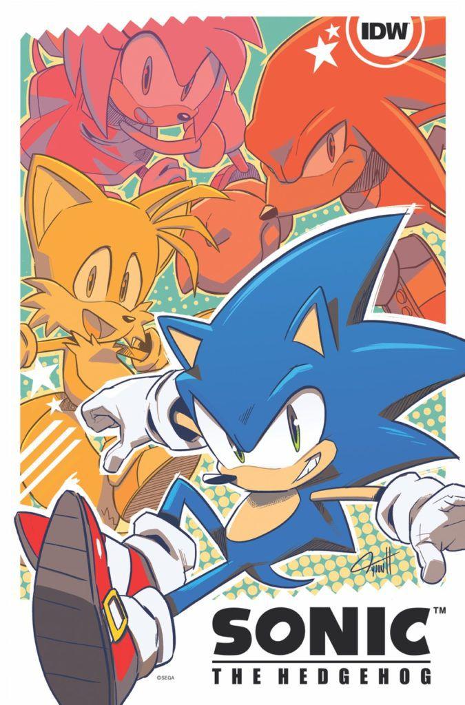 sonic the hedgehog idw comic art