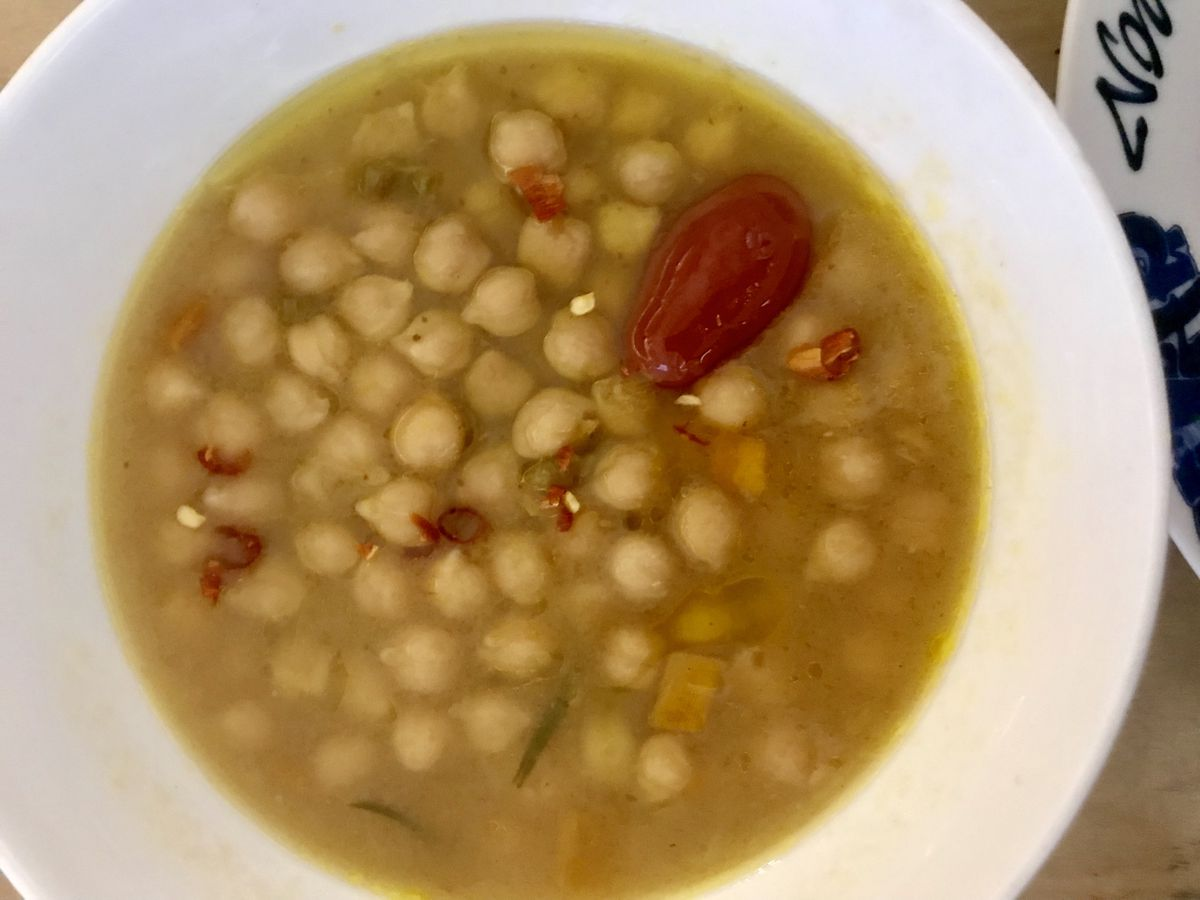 Braised chickpeas at the Bread and Salt pop-up at Bruno Pizza